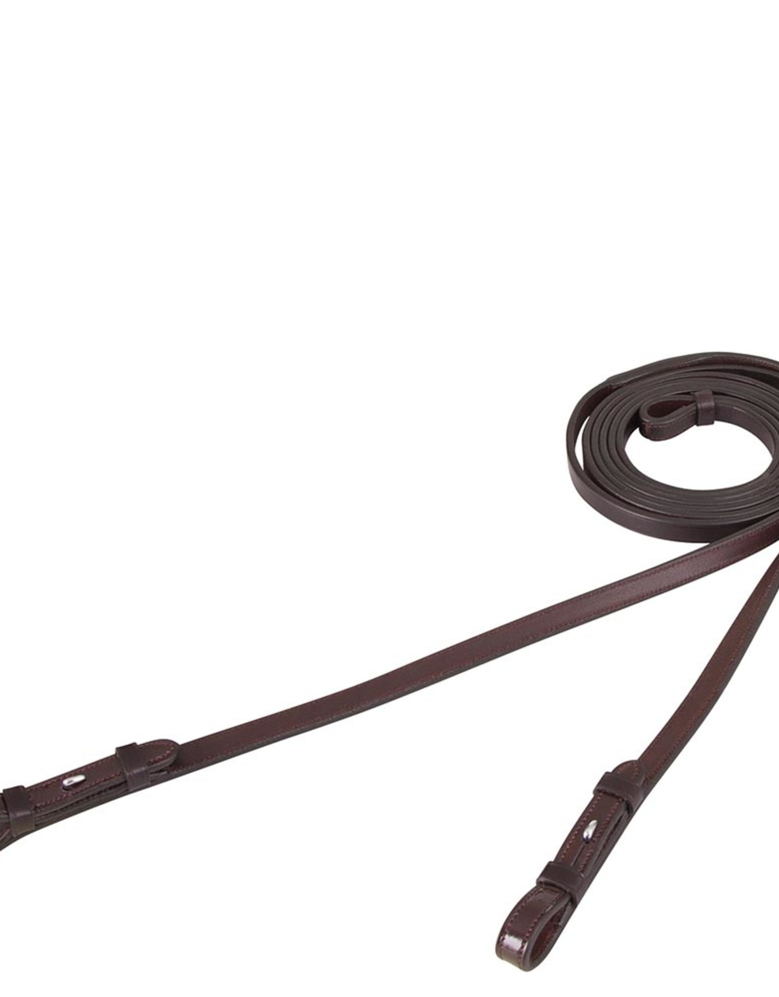 BR  LEATHER CURB REINS
