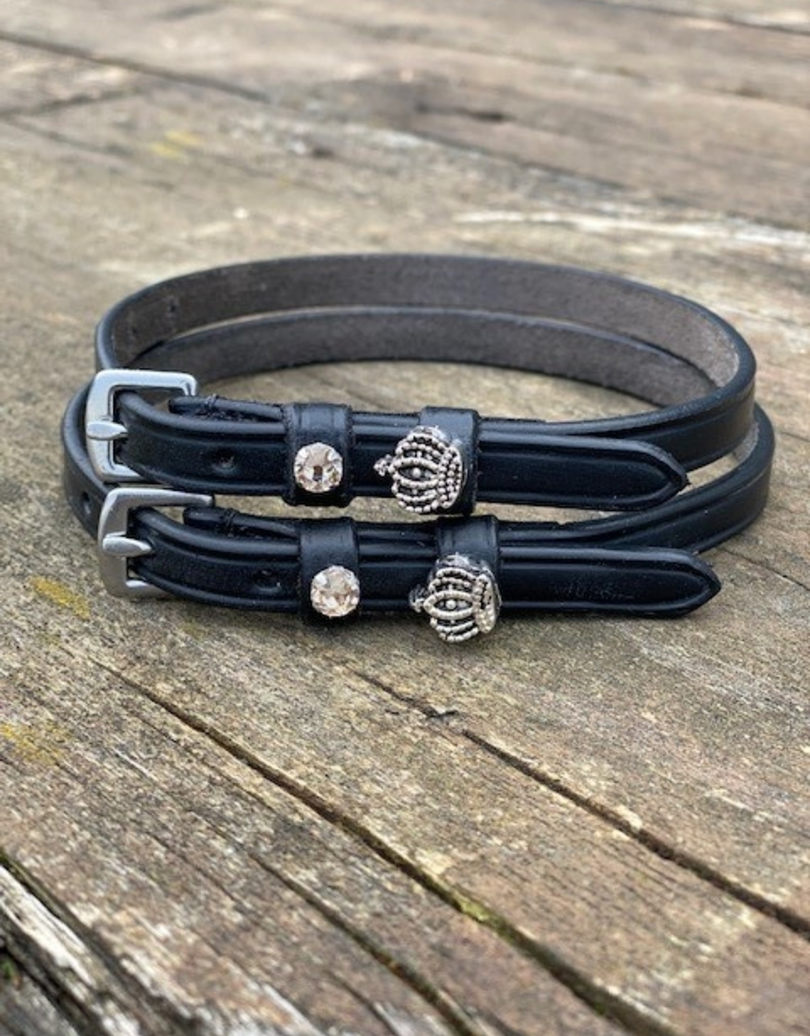 CHROME HORSE BOUTIQUE SPUR STRAPS WITH CHARMS