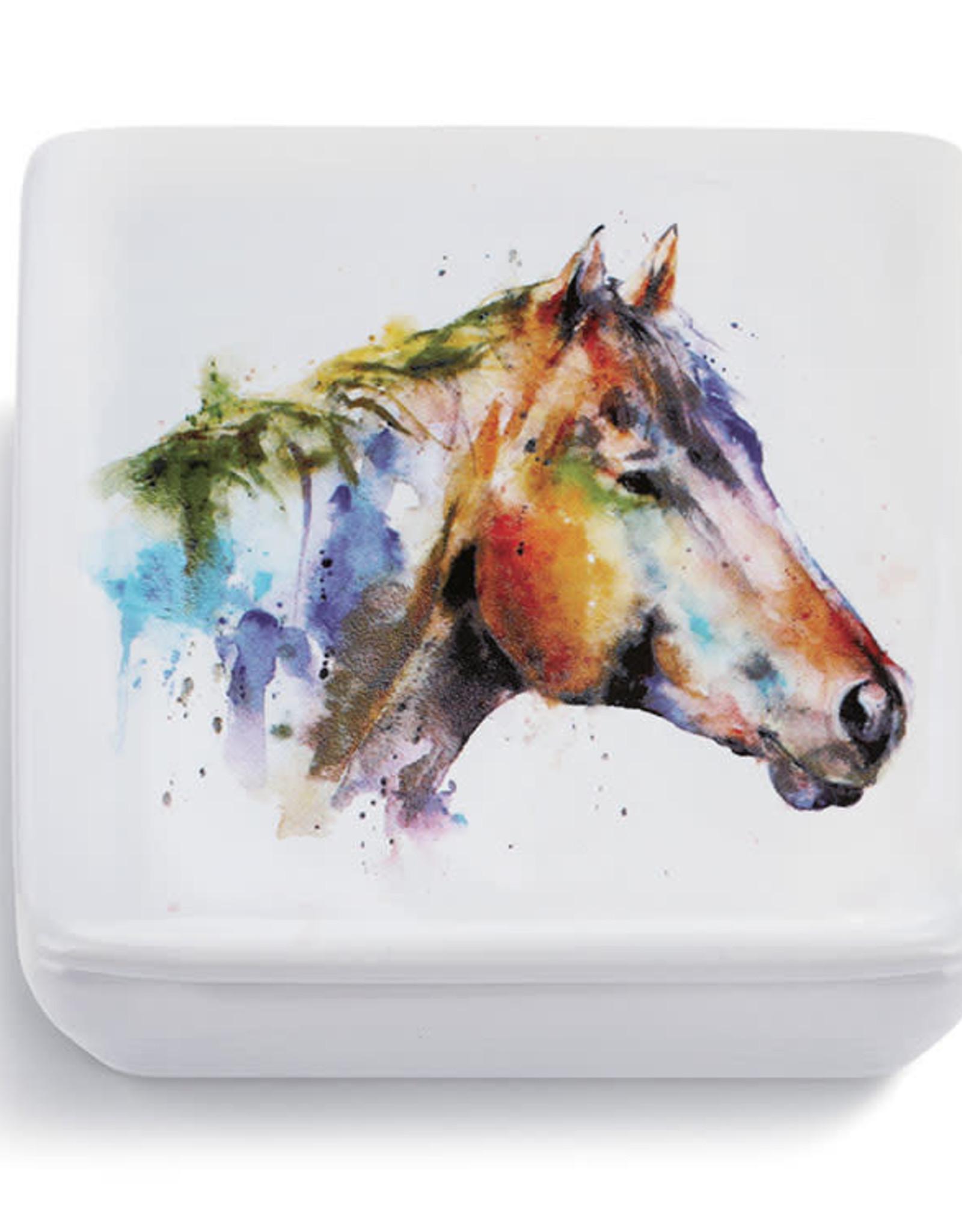 GOOD LOOKIN' HORSE LIDDED VANITY BOX