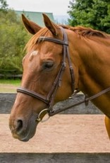 HDR PRO MONO CROWN RAISED FANCY STITCH BRIDLE WITH REINS