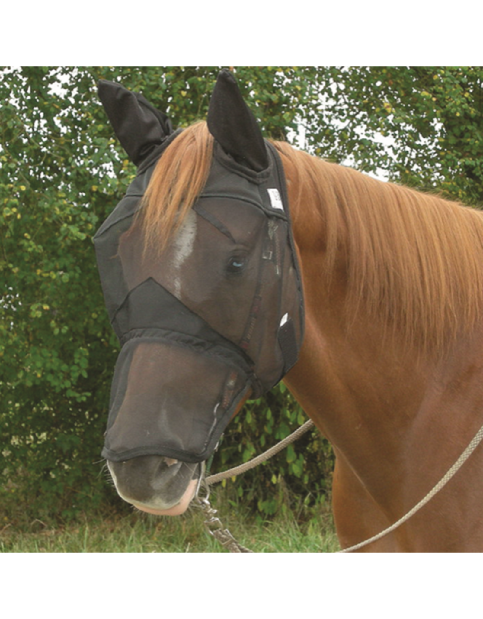 CASHEL QUIET RIDE FLY MASK WITH LONG NOSE & EARS