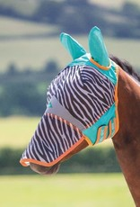 SHIRES ZEB-TEK FLY MASK WITH ZIP OFF NOSE