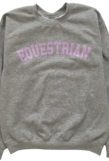 GRAY & BAY HORSE CO. ADULT EQUESTRIAN CREW SWEATER