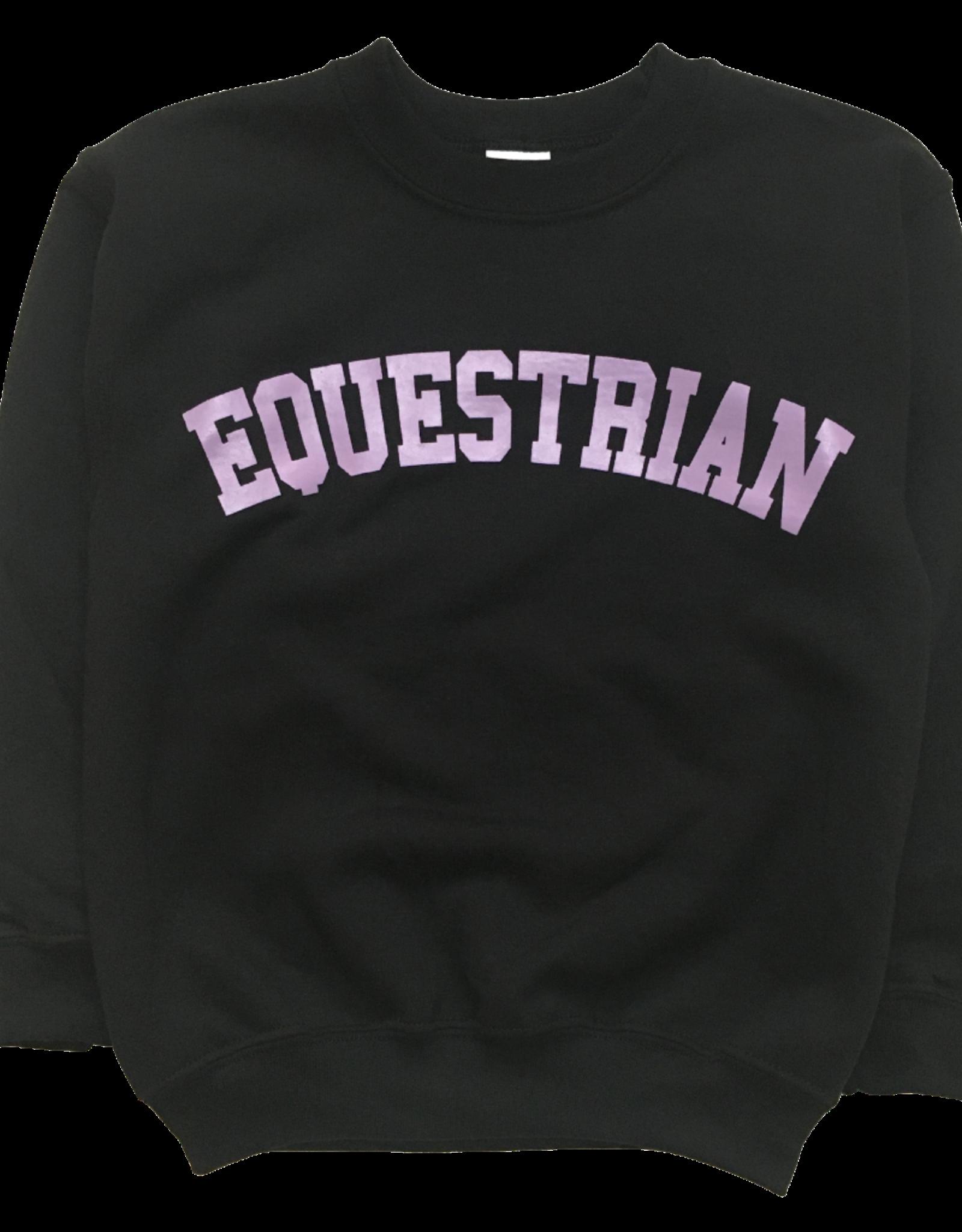 GRAY & BAY HORSE CO. KIDS EQUESTRIAN CREW SWEATER