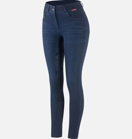 B VERTIGO ELLE DENIM SILICONE FULL SEAT BREECHES