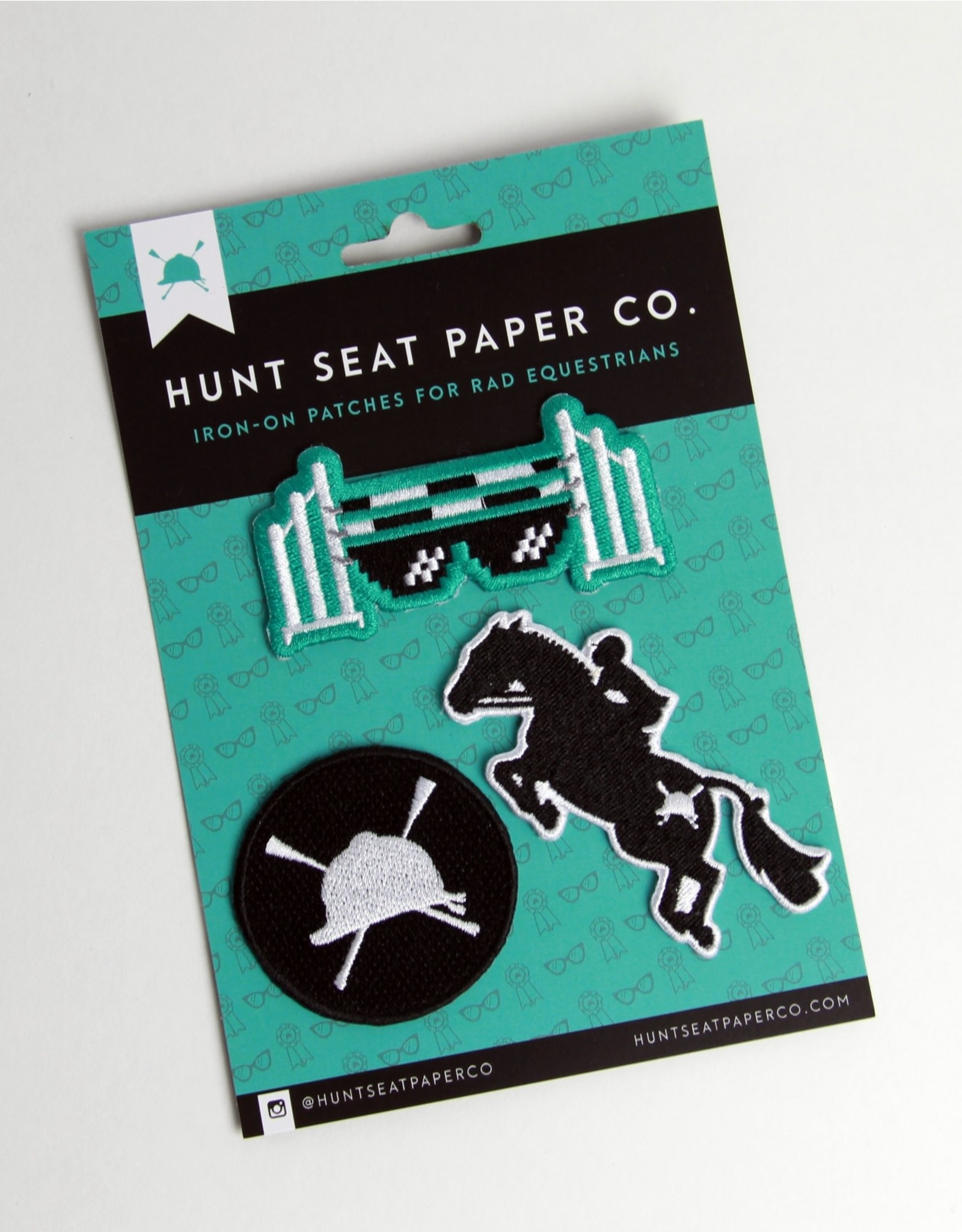 HUNTSEAT PAPER CO. IRON ON PATCHES