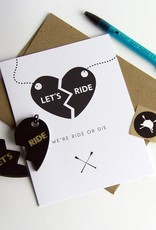 HUNTSEAT PAPER CO. RIDE OR DIE BFF CHARMS GREETING CARD