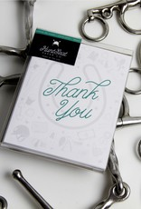 HUNTSEAT PAPER CO. THANK YOU EQUESTRIAN GREETING CARD - BOX OF 8