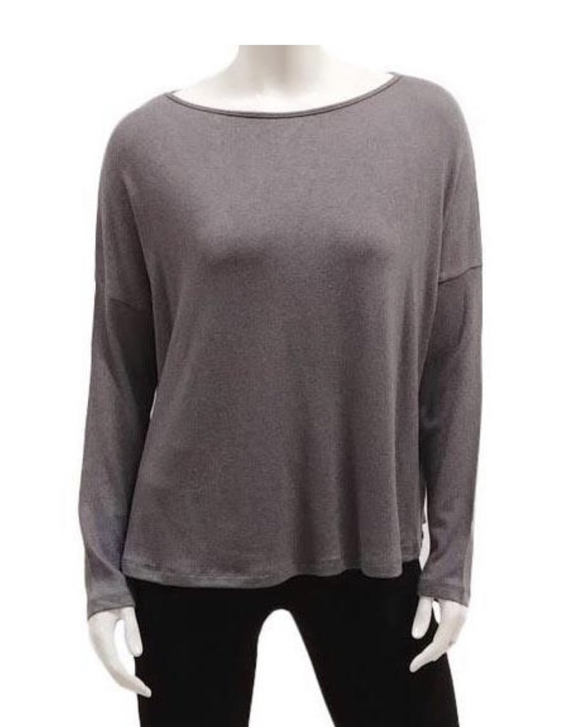 Gilmour Clothing Modal Knit Drop Shoulder Top