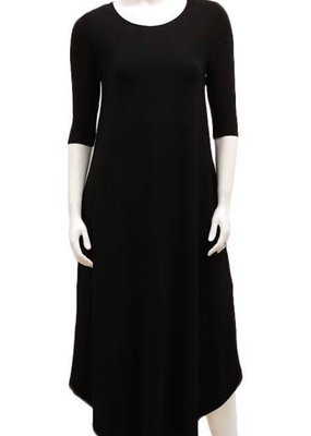 Gilmour Clothing 3/4 Slv Bamboo Maxi Dress