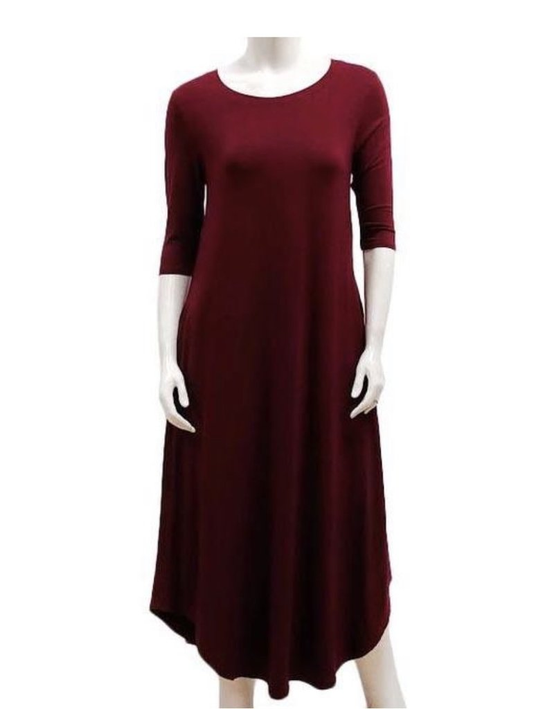 Gilmour Clothing 3/4 Slv Bamboo Maxi Dress