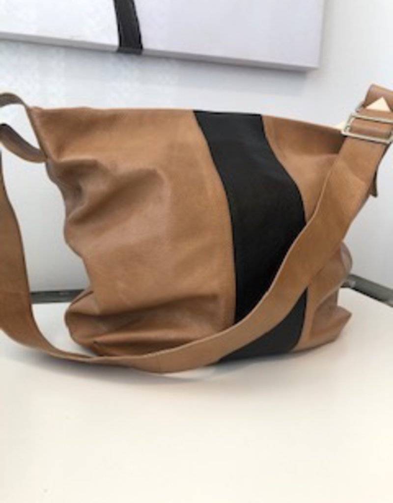 Feramin Pebble Leather Hobo Bag