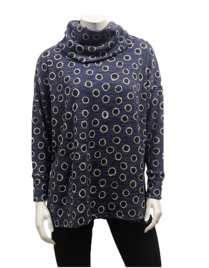 Gilmour Clothing Dots Cowl Top