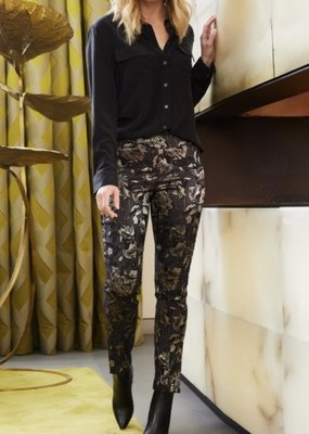 UP! Pants UP! Gold Floral