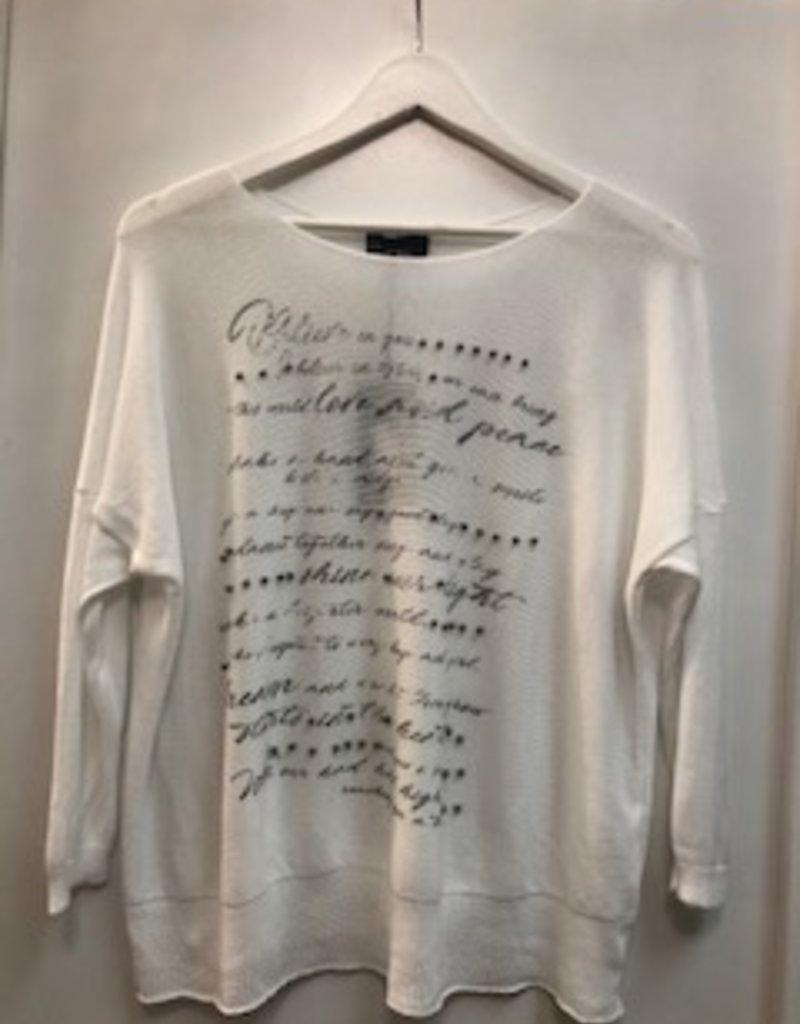 Bella Amore Knit Statement Top