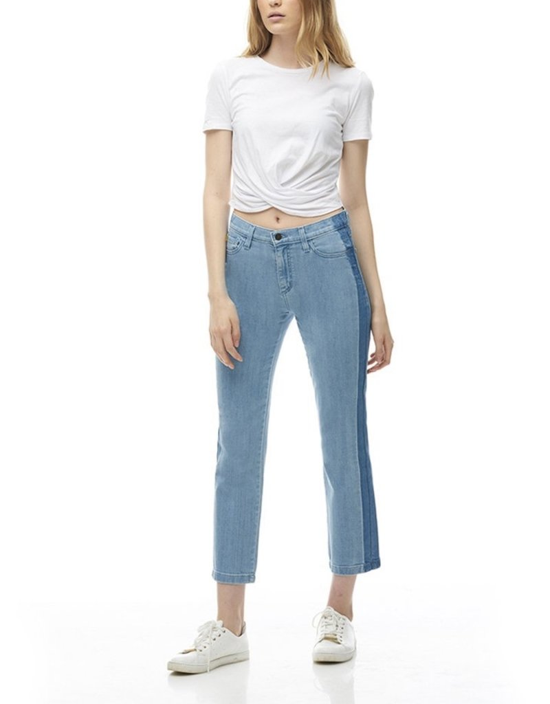 Yoga Jeans Stripe Straight Crop