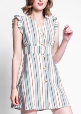 Pink Martini Sage Stripe Dress