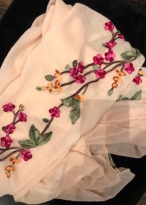Misc Rose Embroidered Scarf