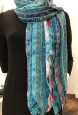 Fair Trade Upcycled Silk Scarf