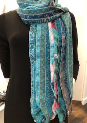 Fair Trade Recycled Silk Scarf