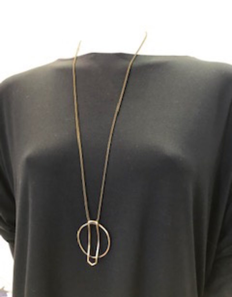 Misc Brass Circle Necklace