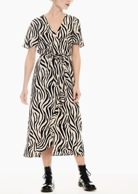 Garcia Zebra Wrap Dress
