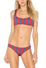 Solid and Striped Elle Red/Slate 2Pc