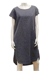 Gilmour Clothing Hemp Stripe Shirttail Dress