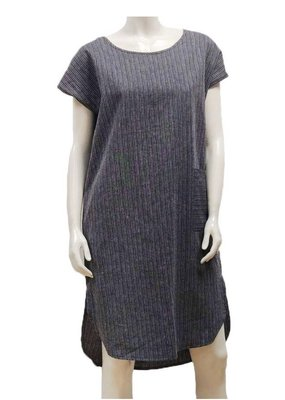 Gilmour Clothing Hemp Stripe Shirttail Dress