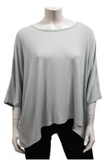 Gilmour Clothing Modal Rib Knit Drapey Top
