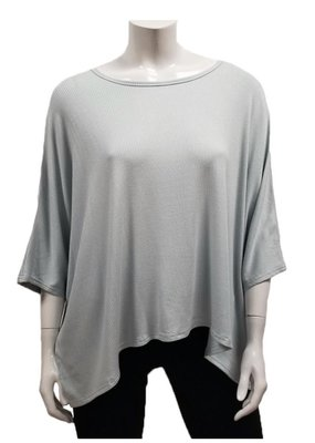 Gilmour Clothing Modal Rib Knit Drapey Top