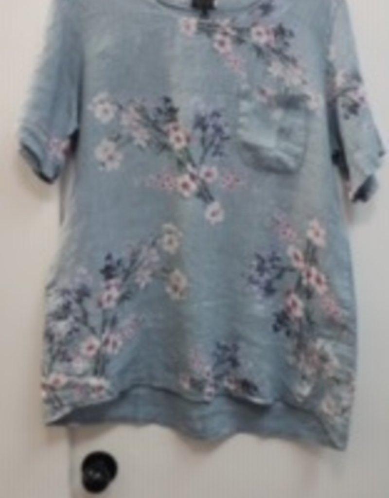 Misc Floral Linen Top