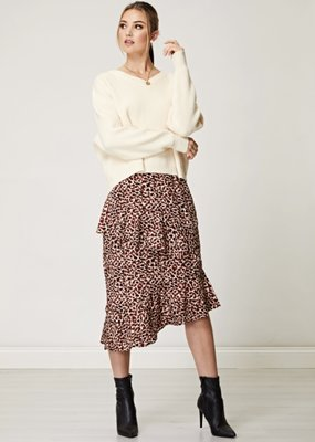 Angel Eye Animal Midi Skirt