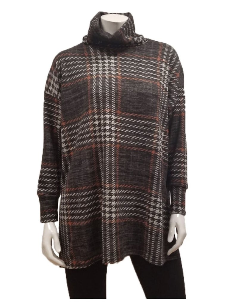 Gilmour Clothing Plaid Cowl Tunic