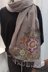 Fair Trade Wool Reversible Embroidered Scarf