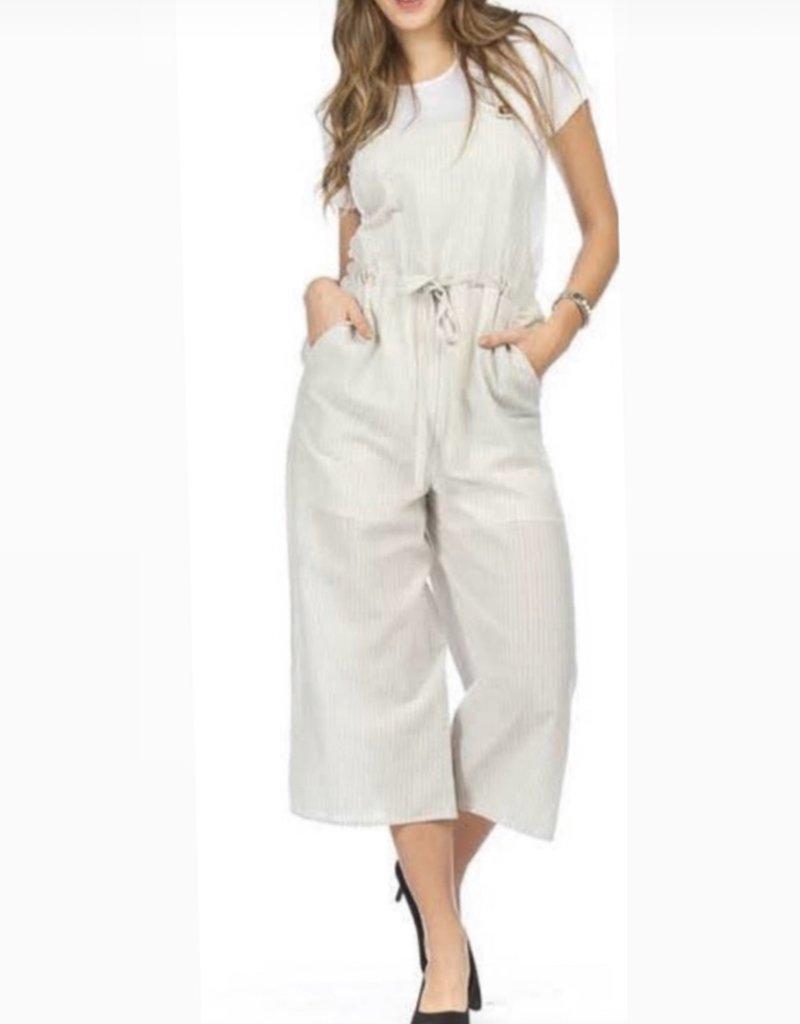 Linen Crop Jumpsuit