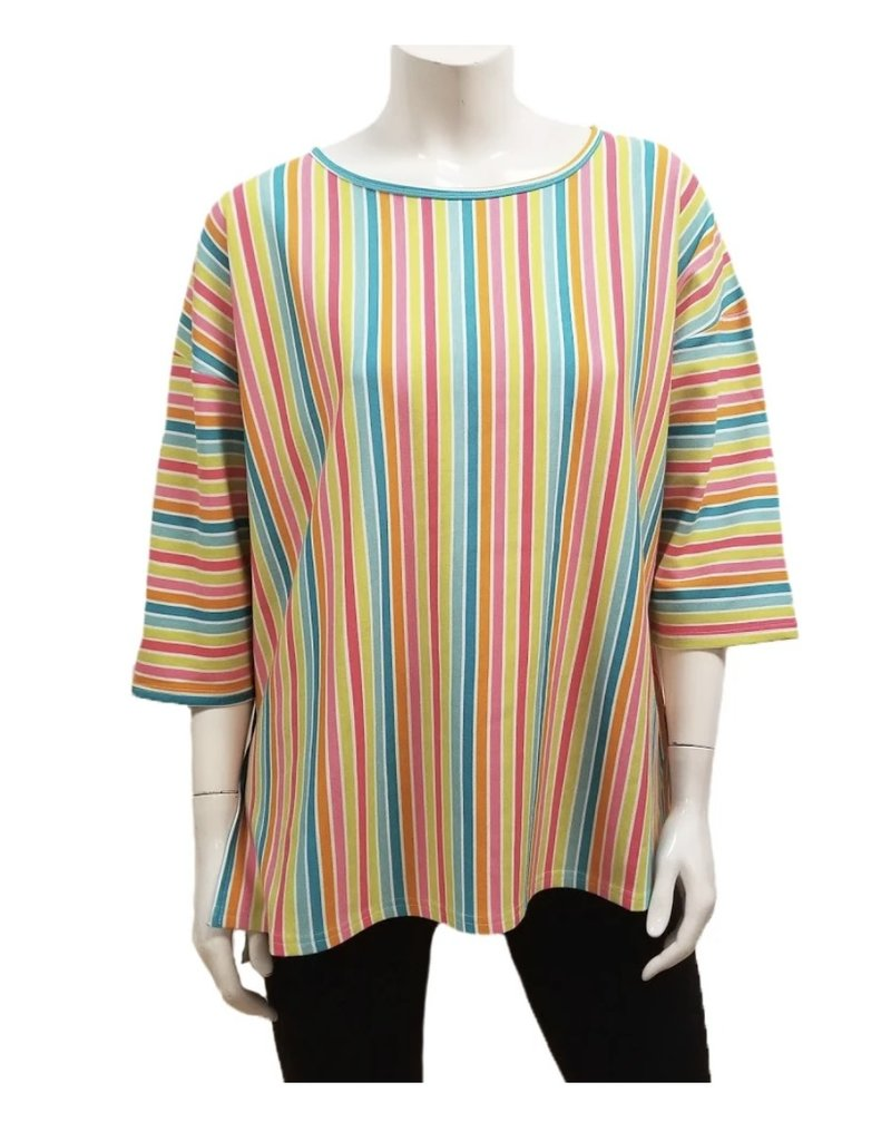 Gilmour Clothing Rainbow Stripe Bamboo Top