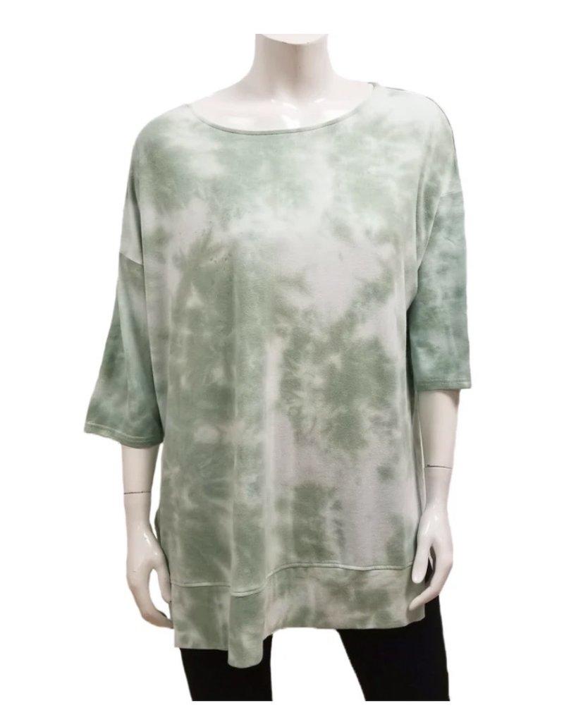 Gilmour Clothing Tie Dye Bamboo Raglan Tunic