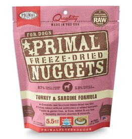 PRIMAL PET FOODS Primal | Freeze Dried Nuggets Canine Turkey & Sardine Formula