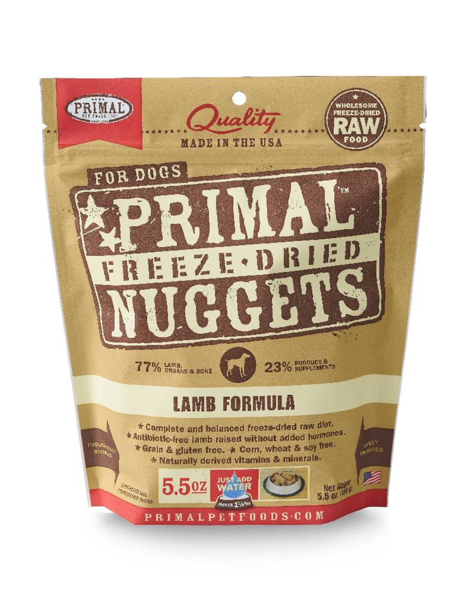 PRIMAL PET FOODS Primal | Freeze Dried Nuggets Canine Lamb Formula