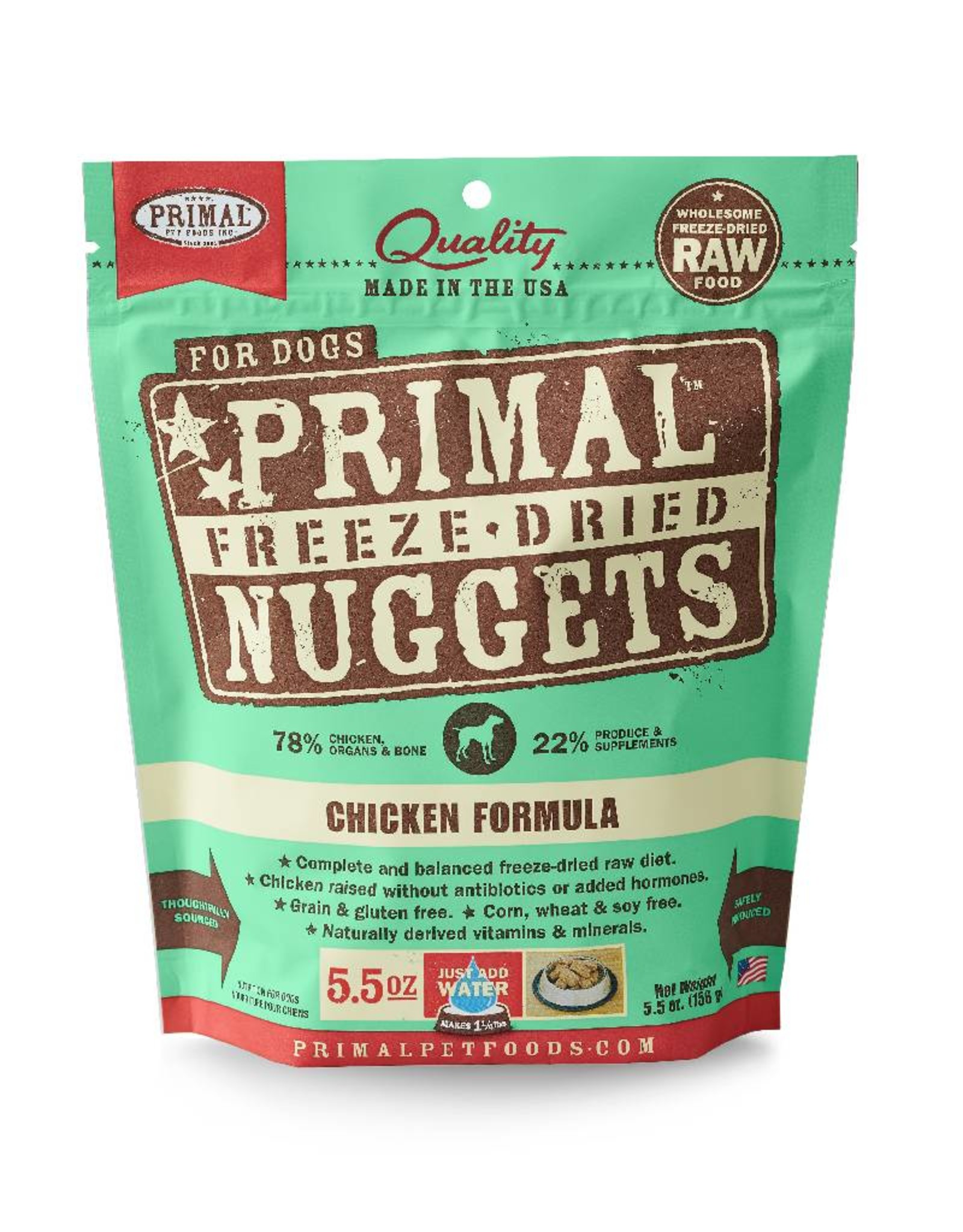 PRIMAL PET FOODS Primal | Freeze Dried Nuggets Canine Chicken Formula