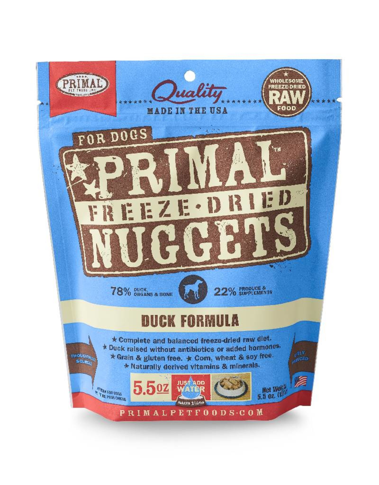 PRIMAL PET FOODS Primal | Freeze Dried Nuggets Canine Duck Formula