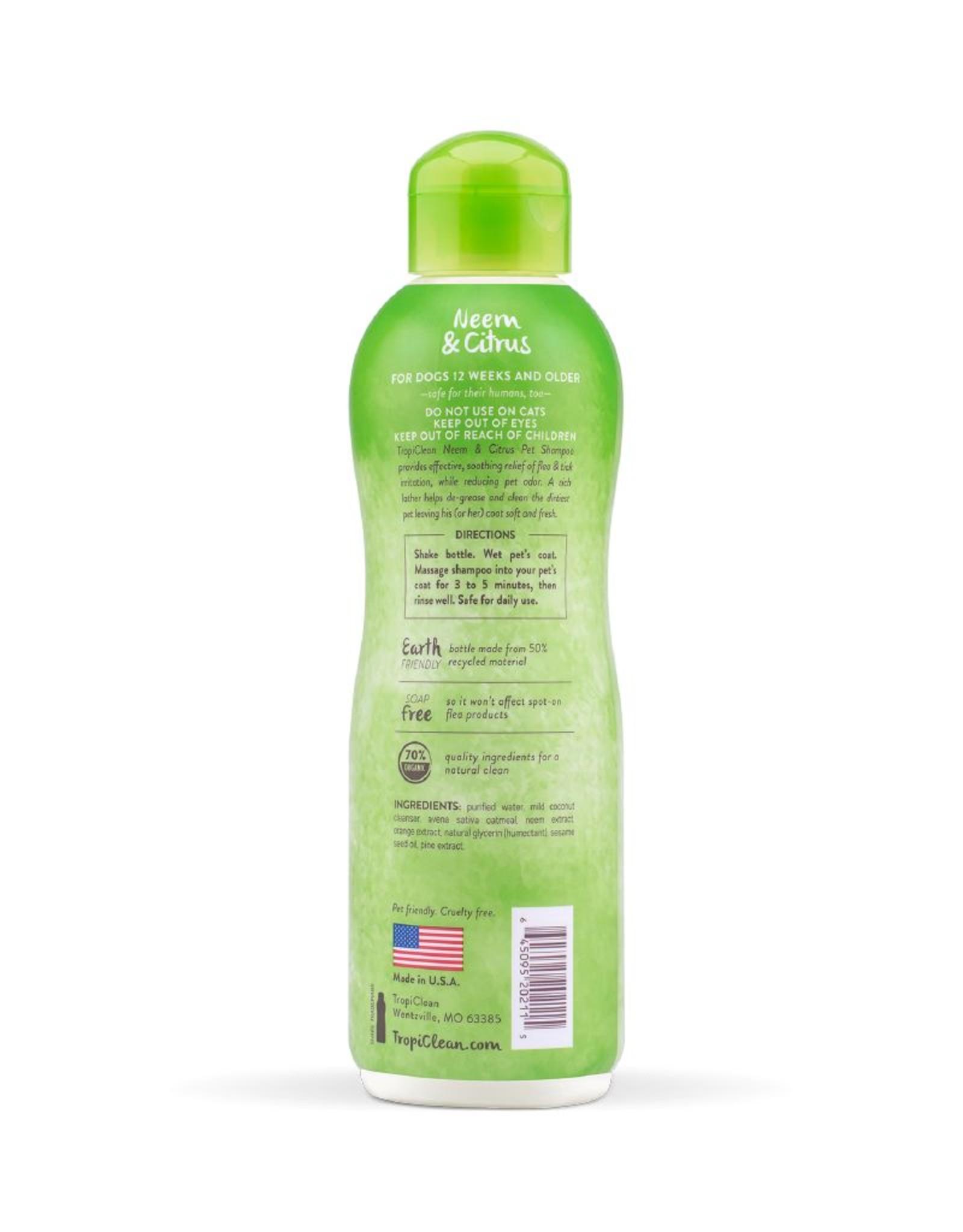 TROPICLEAN TropiClean | Neem & Citrus Dog Shampoo 20 oz