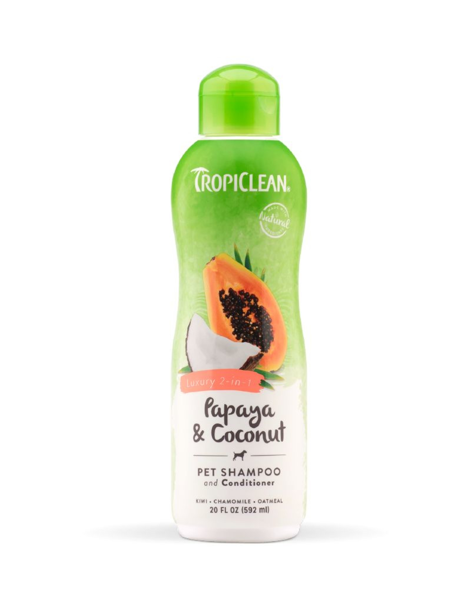 TROPICLEAN TropiClean | Papaya & Coconut Luxury 2-in-1 Conditioning Shampoo