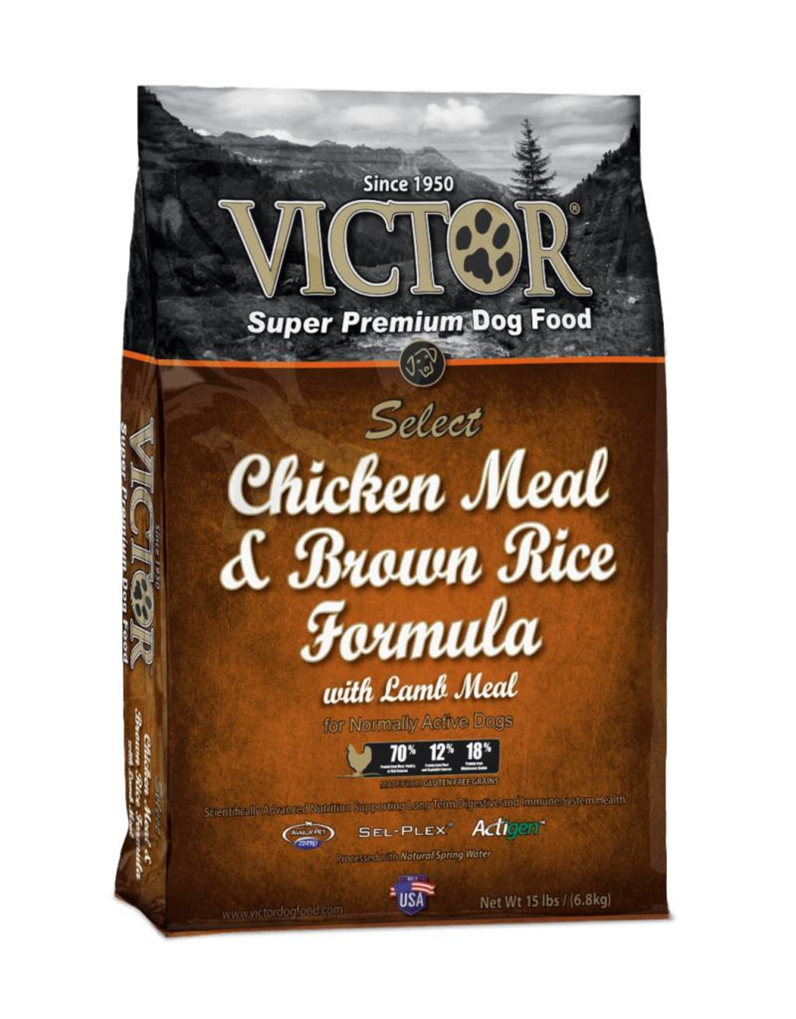 Victor Super Premium Pet Foods Victor   Select Chicken Meal & Brown Rice Formula