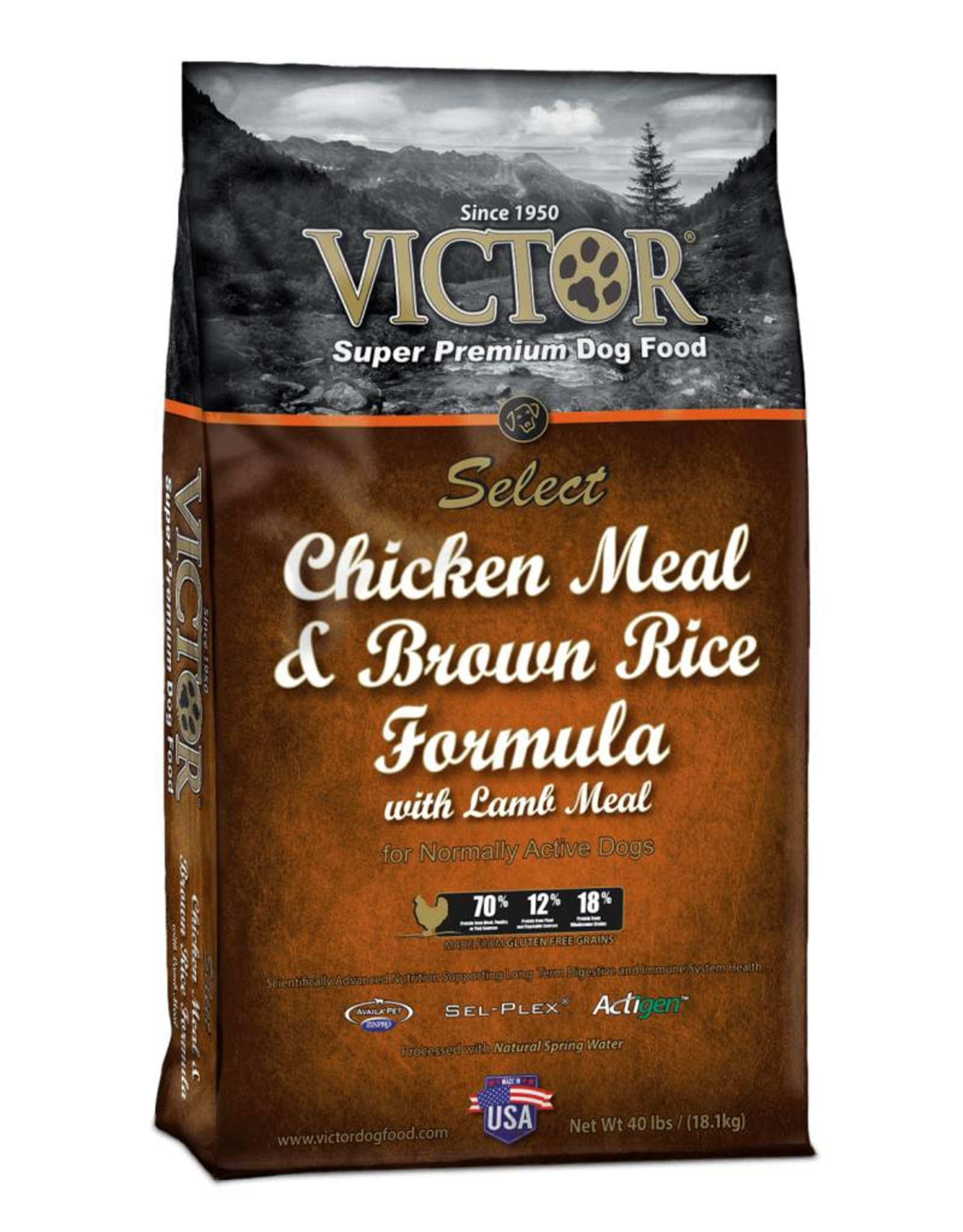 Victor Super Premium Pet Foods Victor | Select Chicken Meal & Brown Rice Formula
