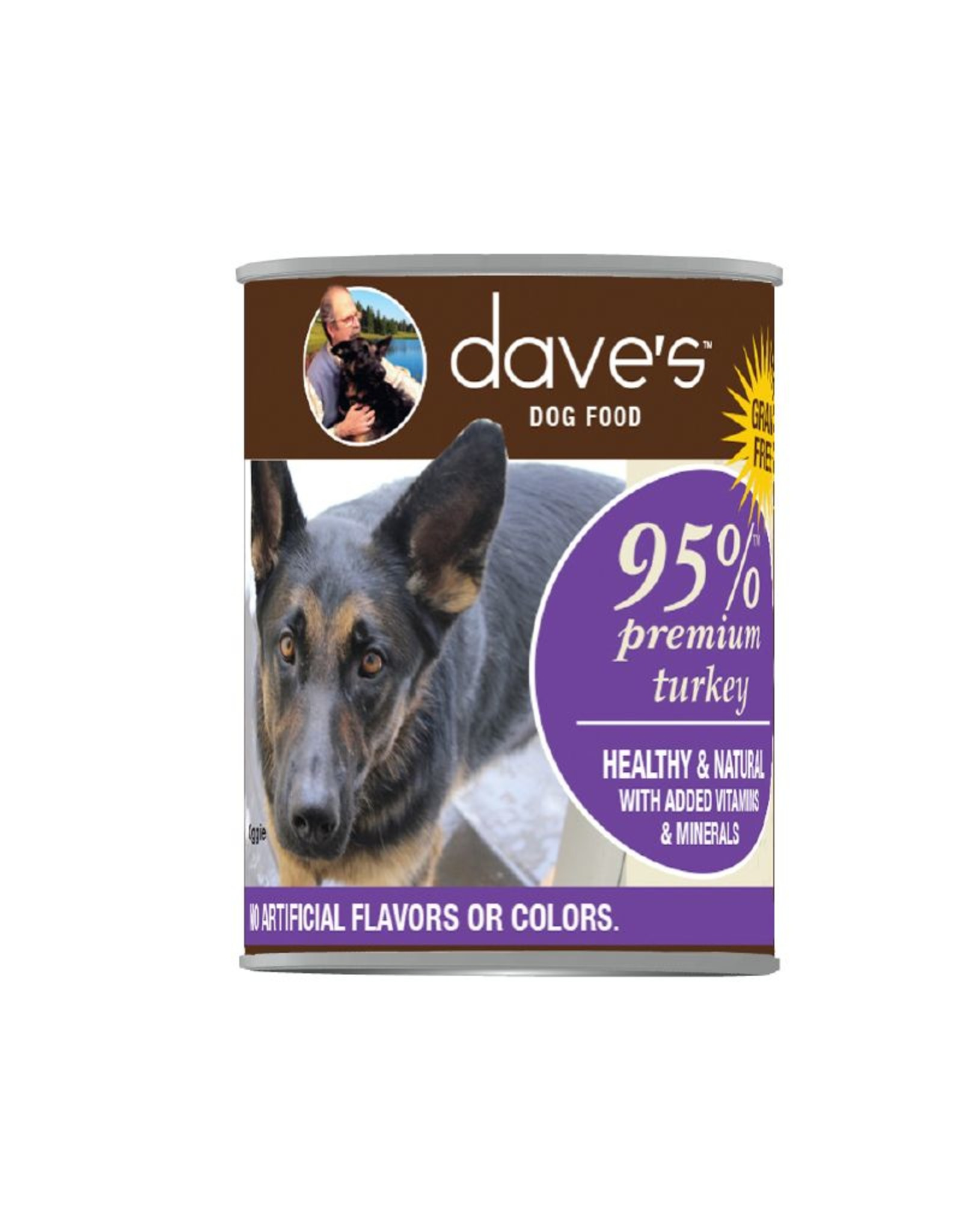 DAVE'S PET FOOD Dave's | 95% Premium Meats Canned Dog Food Turkey Recipe