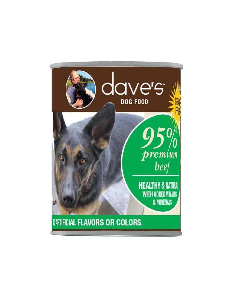 DAVE'S PET FOOD Dave's | 95% Premium Meats Canned Dog Food Beef Recipe 1 ea