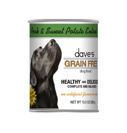 DAVE'S PET FOOD Dave's | Grain Free Pork & Sweet Potato Entrée Canned Dog Food
