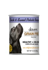 DAVE'S PET FOOD Dave's | Grain Free Duck & Sweet Potato Recipe Canned Dog Food